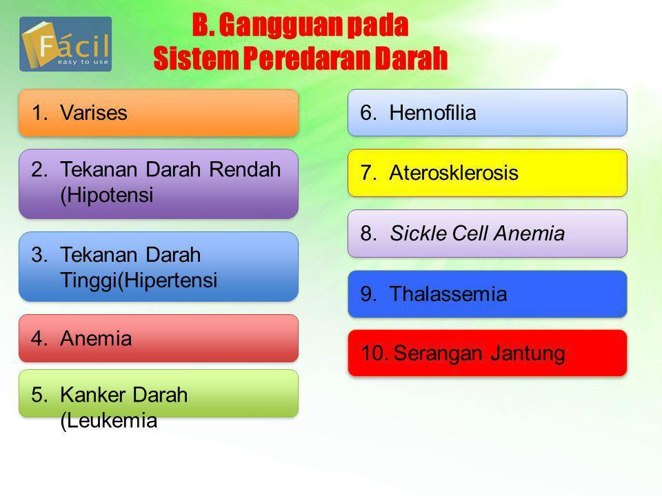 B. Gangguan pada Sistem Peredaran Darah