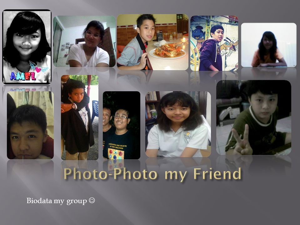 Photo-Photo my Friend Biodata my group 