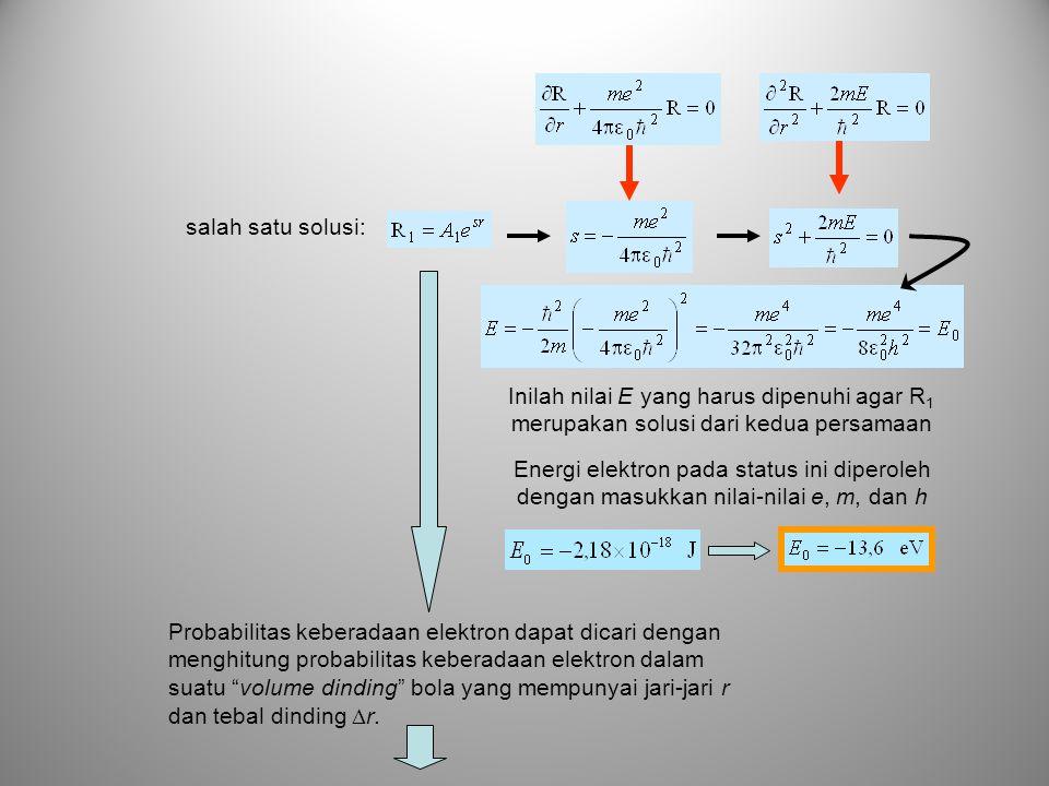 salah satu solusi: Inilah nilai E yang harus dipenuhi agar R1 merupakan solusi dari kedua persamaan.