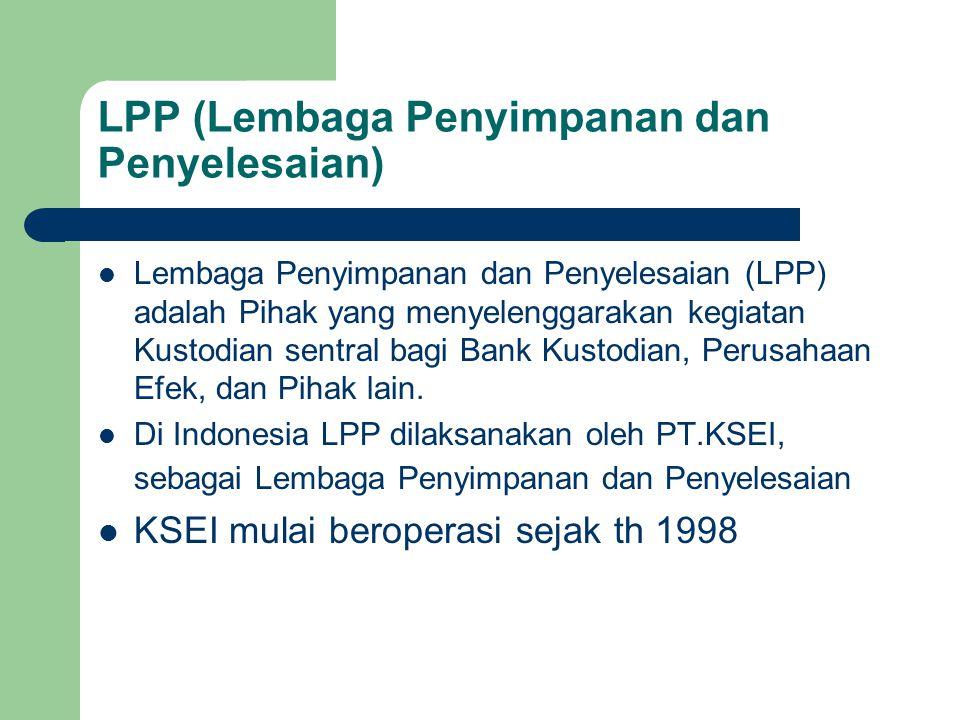 LPP (Lembaga Penyimpanan dan Penyelesaian)