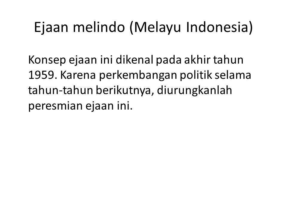Ejaan melindo (Melayu Indonesia)