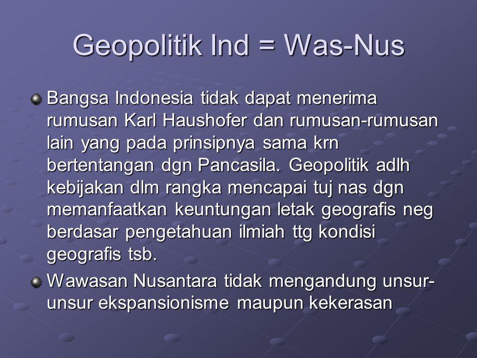 Geopolitik Ind = Was-Nus
