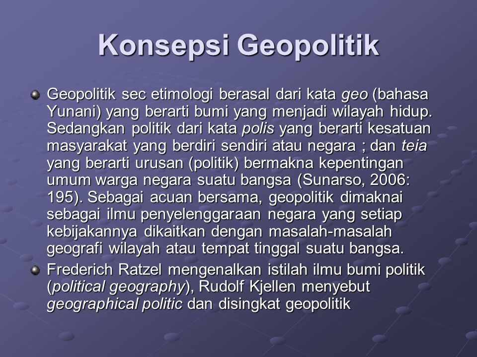 Konsepsi Geopolitik