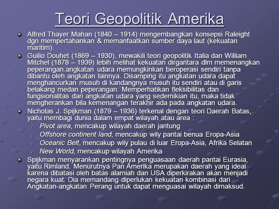 Teori Geopolitik Amerika
