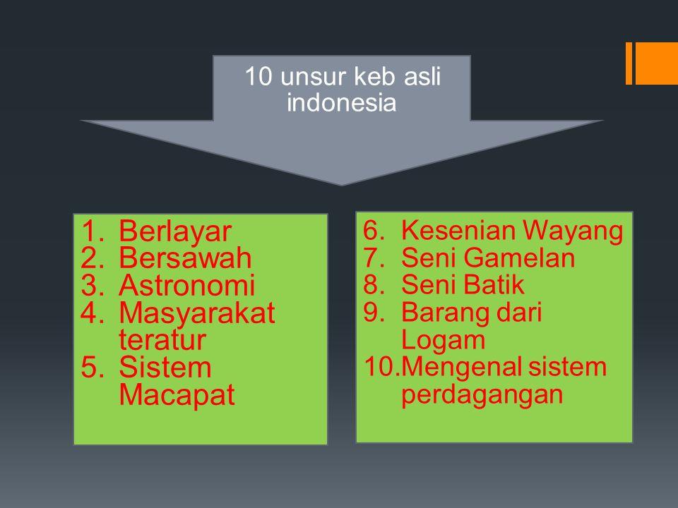 10 unsur keb asli indonesia