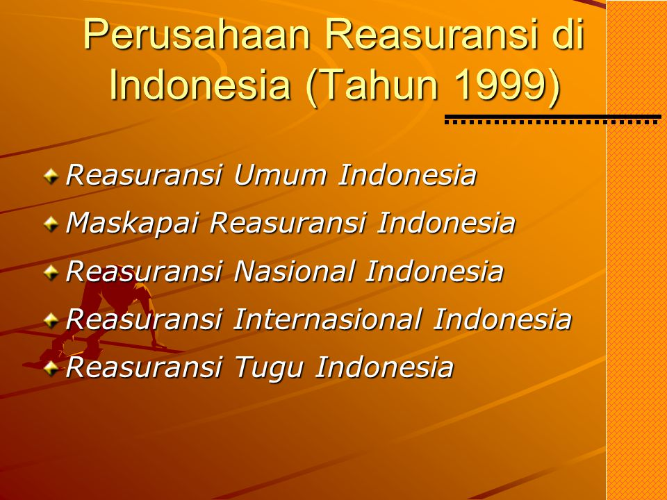 Perusahaan Reasuransi di Indonesia (Tahun 1999)