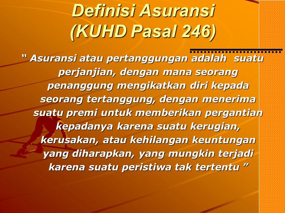 Definisi Asuransi (KUHD Pasal 246)