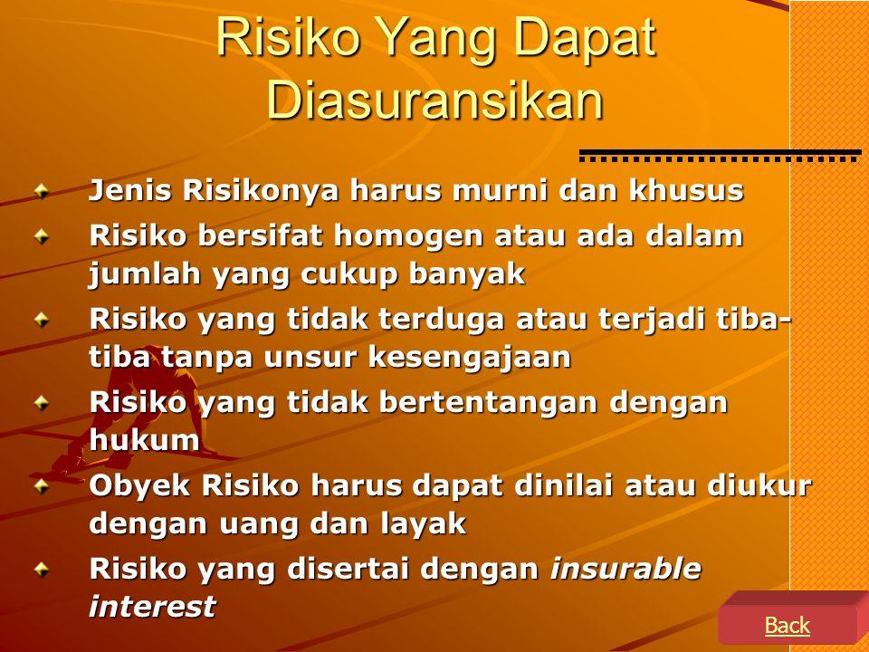 Risiko Yang Dapat Diasuransikan
