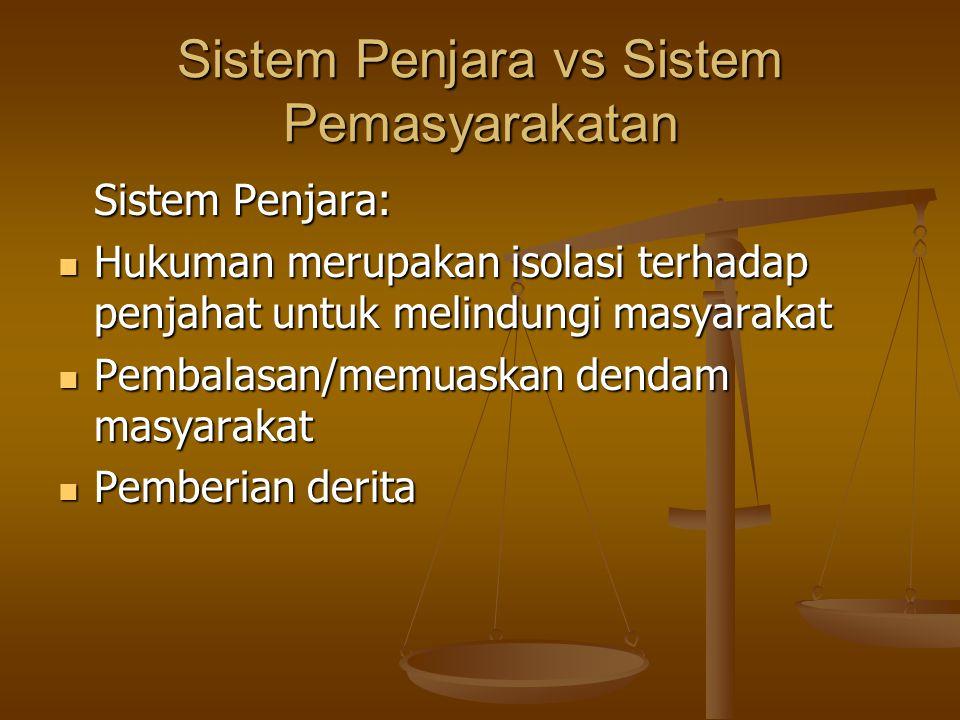 Sistem Penjara vs Sistem Pemasyarakatan