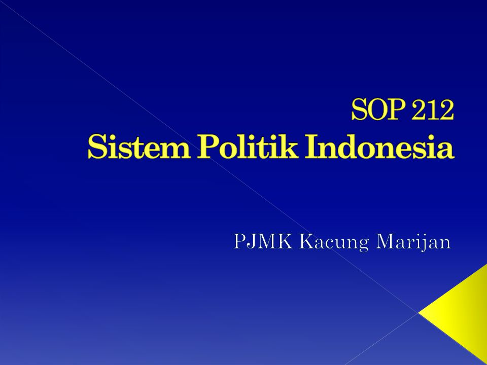 SOP 212 Sistem Politik Indonesia