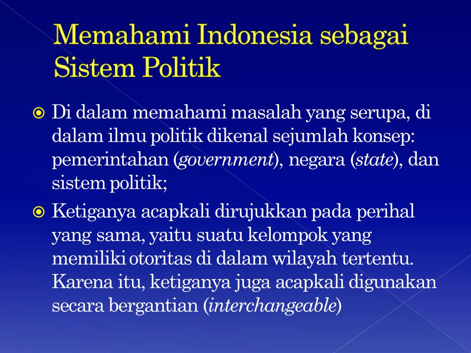 Memahami Indonesia sebagai Sistem Politik