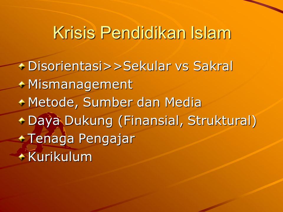 Krisis Pendidikan Islam