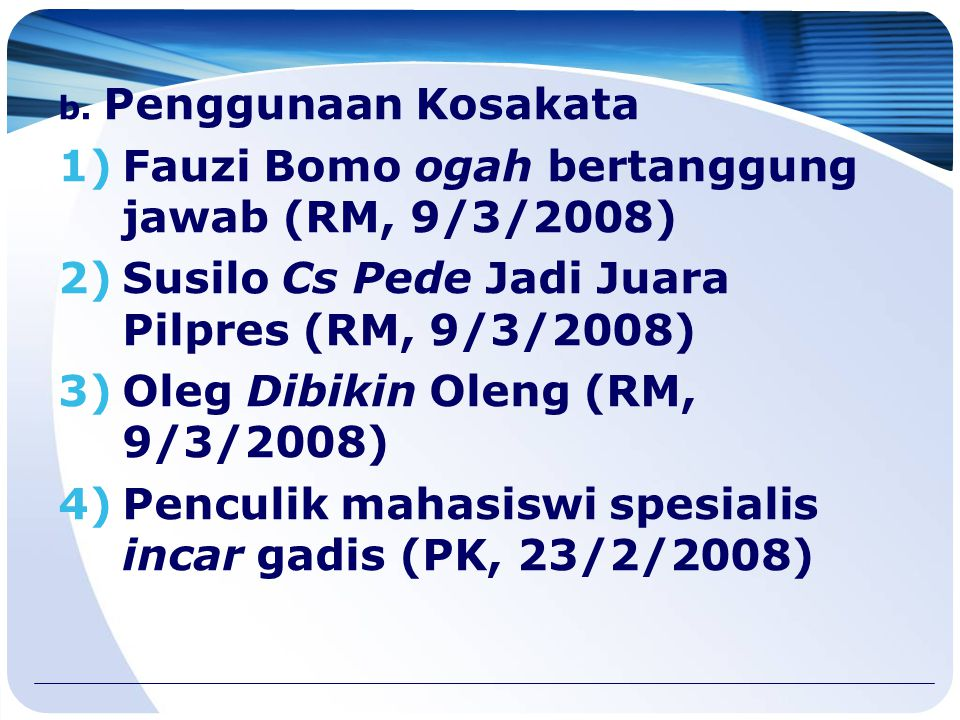 Fauzi Bomo ogah bertanggung jawab (RM, 9/3/2008)