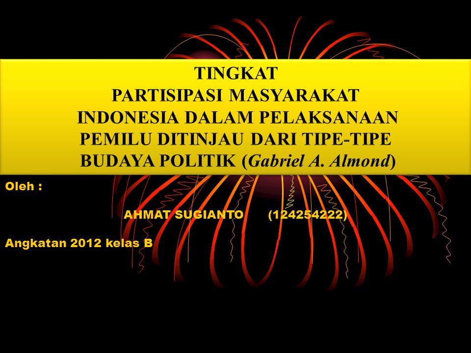 PARTISIPASI MASYARAKAT INDONESIA DALAM PELAKSANAAN