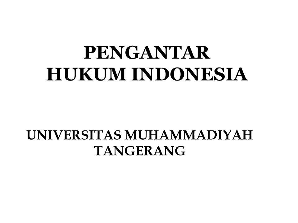 PENGANTAR HUKUM INDONESIA