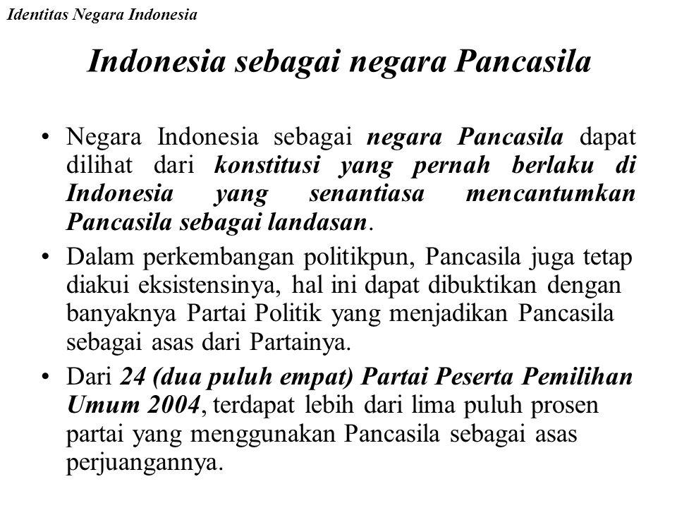 Indonesia sebagai negara Pancasila