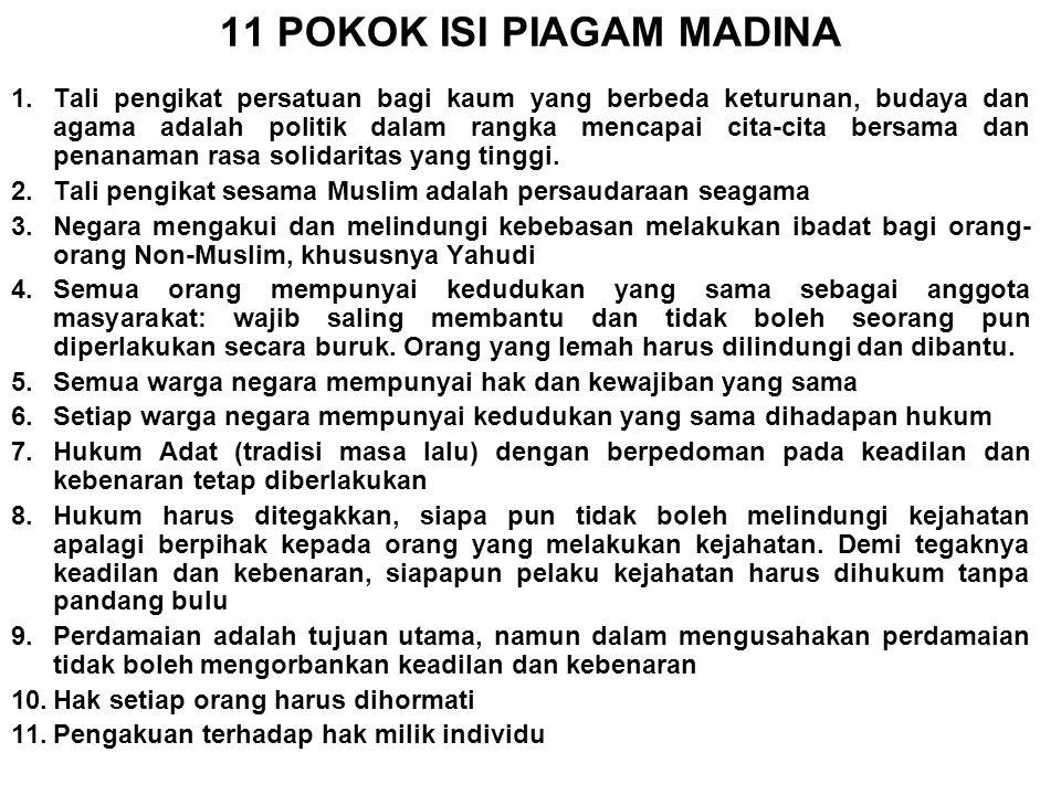 11 POKOK ISI PIAGAM MADINA