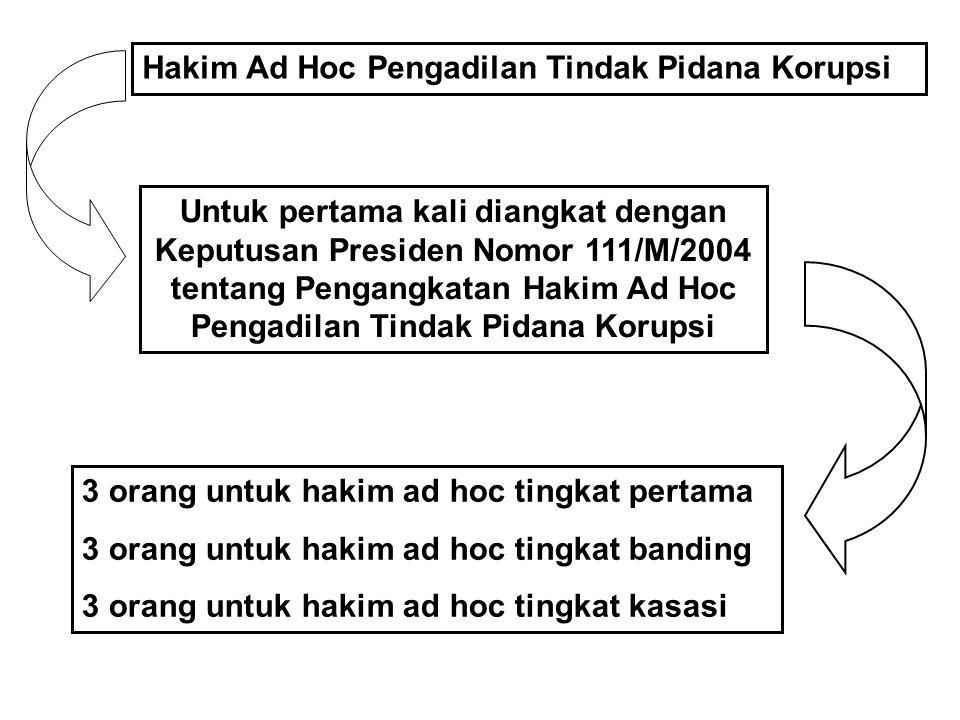 Hakim Ad Hoc Pengadilan Tindak Pidana Korupsi