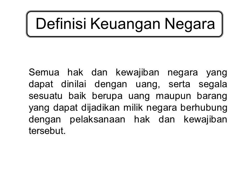 Definisi Keuangan Negara