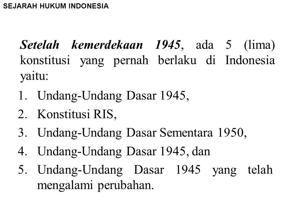 Undang-Undang Dasar Sementara 1950, Undang-Undang Dasar 1945, dan