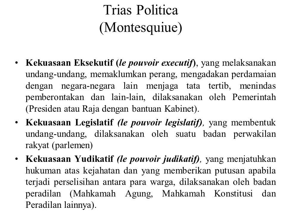 Trias Politica (Montesquiue)