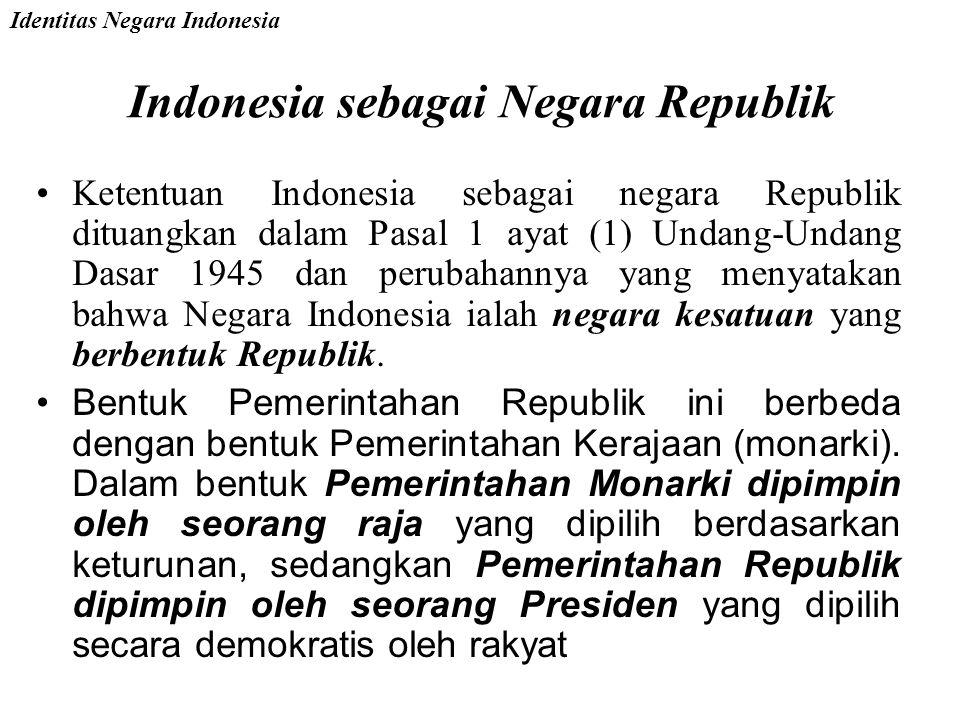 Indonesia sebagai Negara Republik