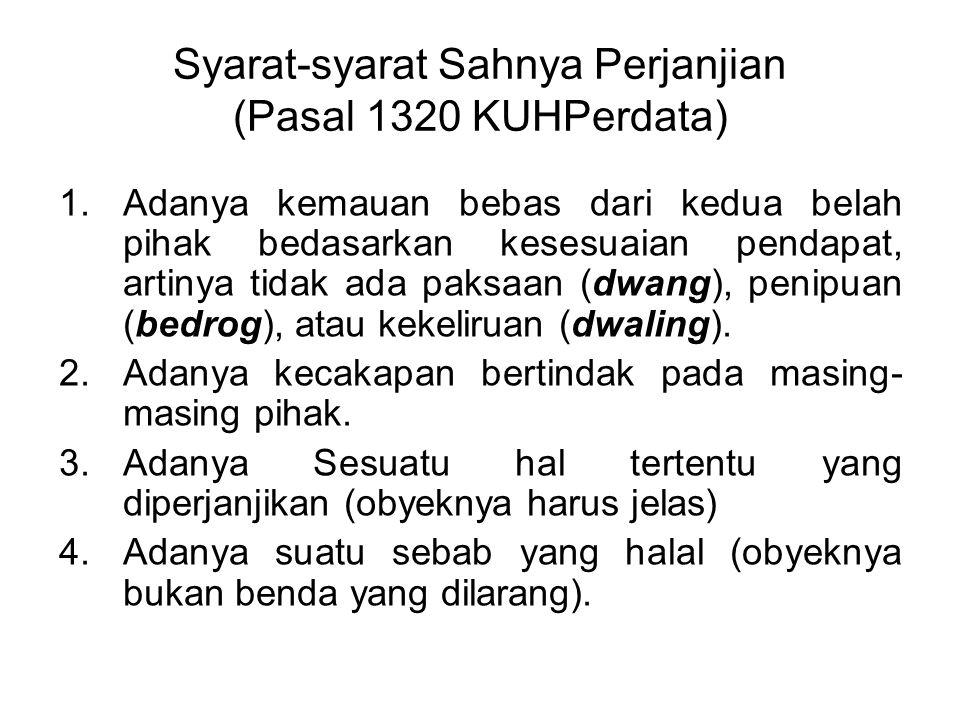 Syarat-syarat Sahnya Perjanjian (Pasal 1320 KUHPerdata)