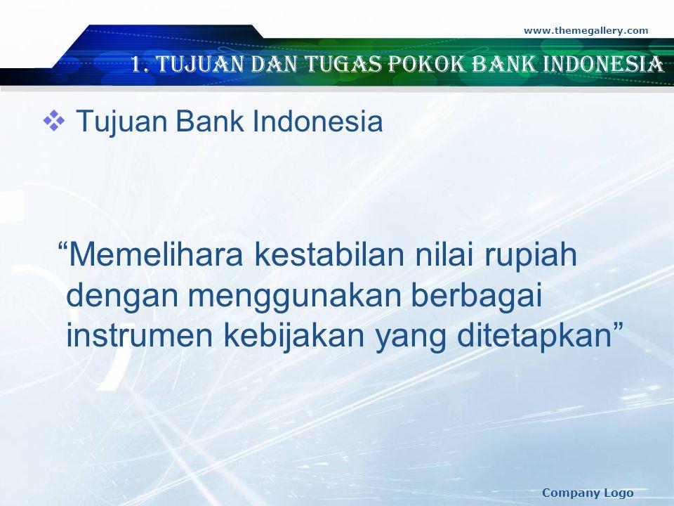 1. Tujuan dan Tugas Pokok Bank Indonesia