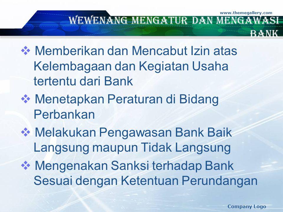 Wewenang Mengatur dan Mengawasi Bank