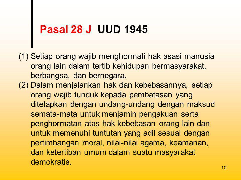 Pasal 28 J UUD 1945