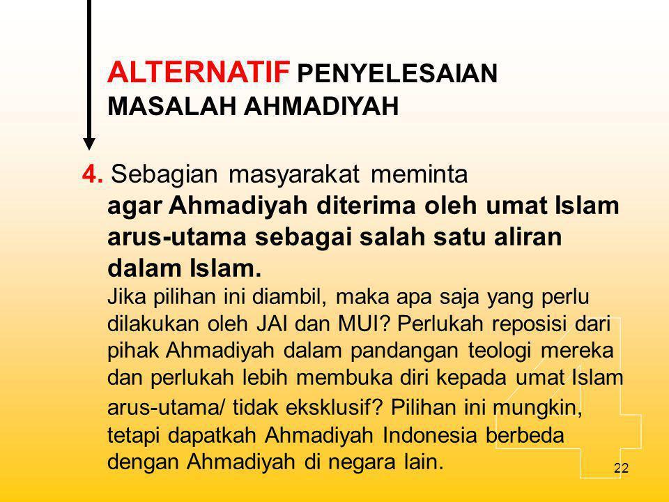 4 ALTERNATIF PENYELESAIAN MASALAH AHMADIYAH