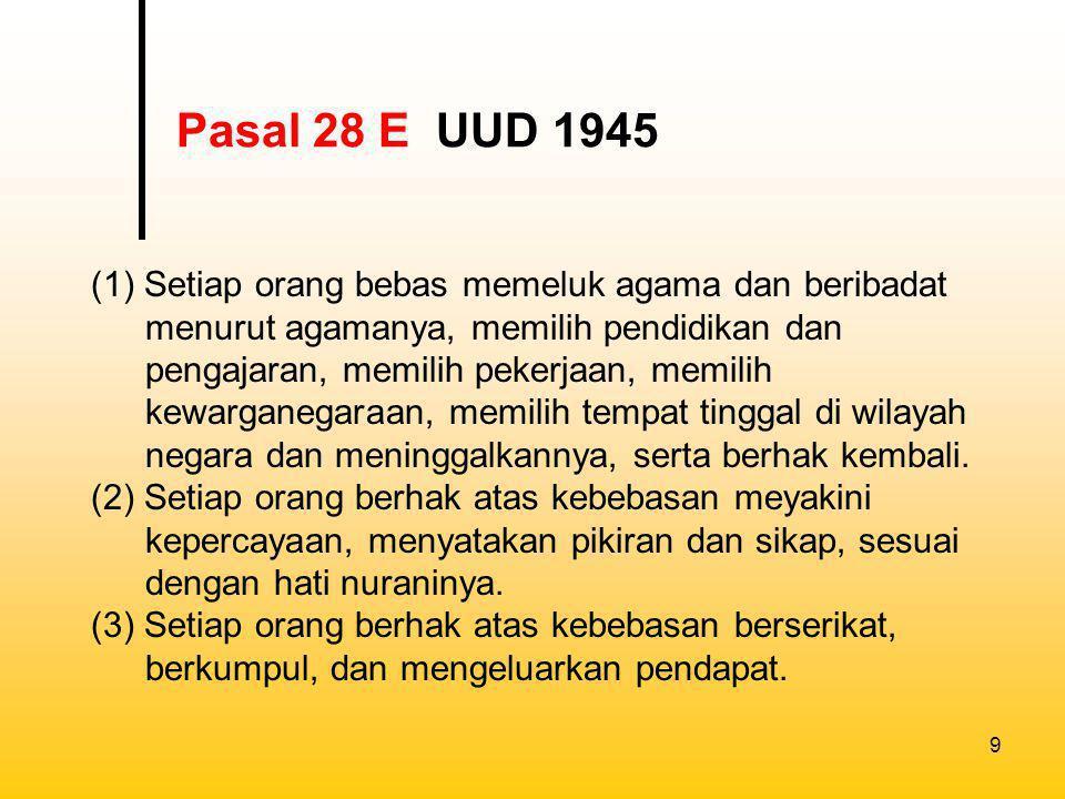 Pasal 28 E UUD 1945