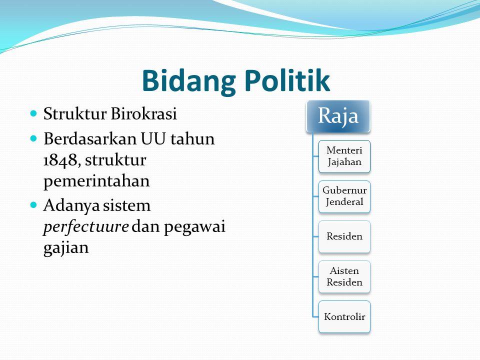 Bidang Politik Struktur Birokrasi