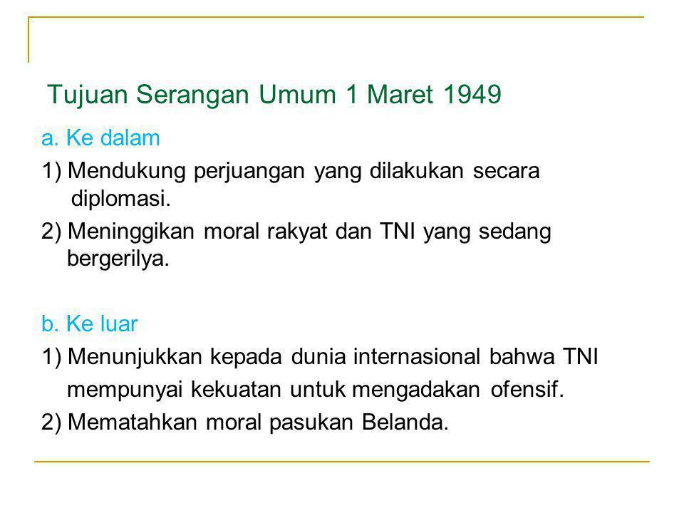 Tujuan Serangan Umum 1 Maret 1949