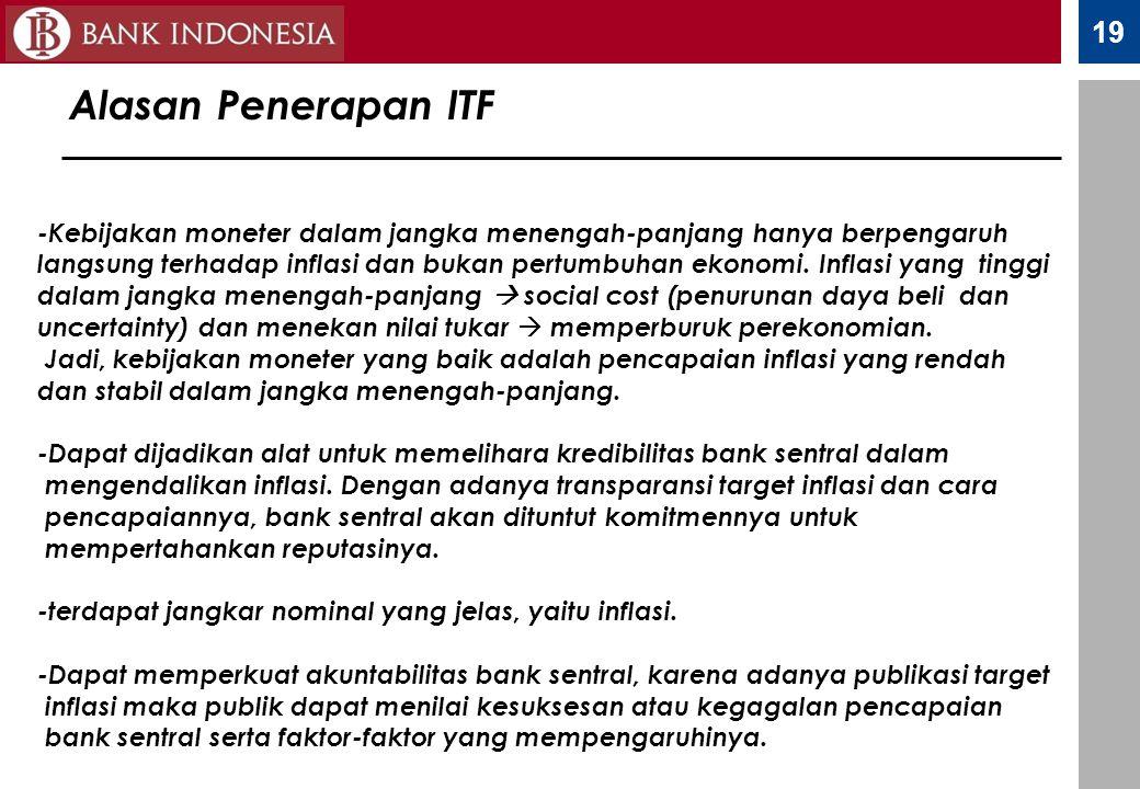 Alasan Penerapan ITF