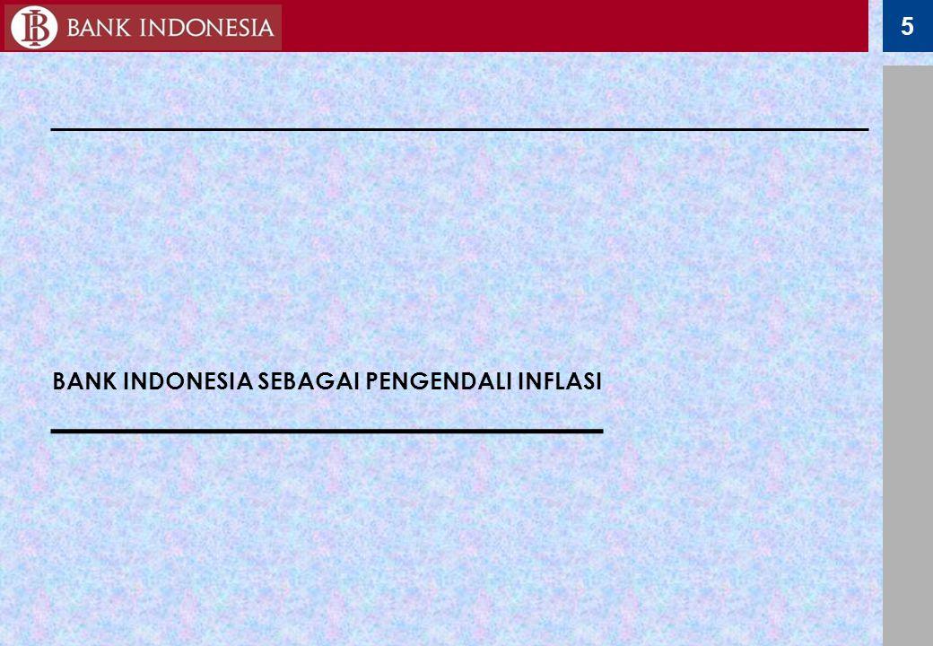 BANK INDONESIA SEBAGAI PENGENDALI INFLASI