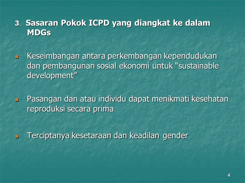 Terciptanya kesetaraan dan keadilan gender