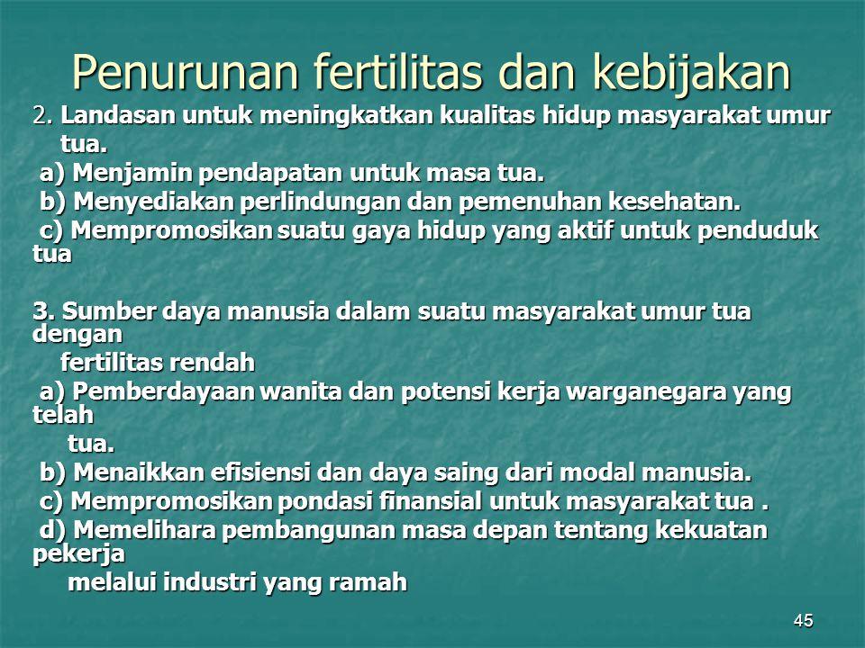 Penurunan fertilitas dan kebijakan