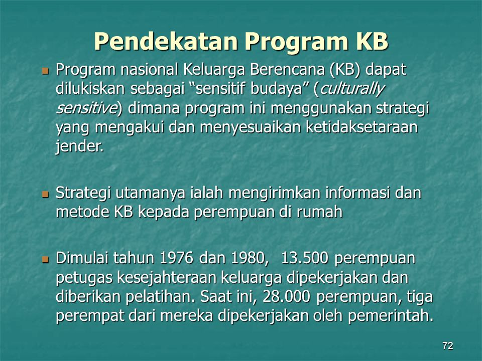 Pendekatan Program KB