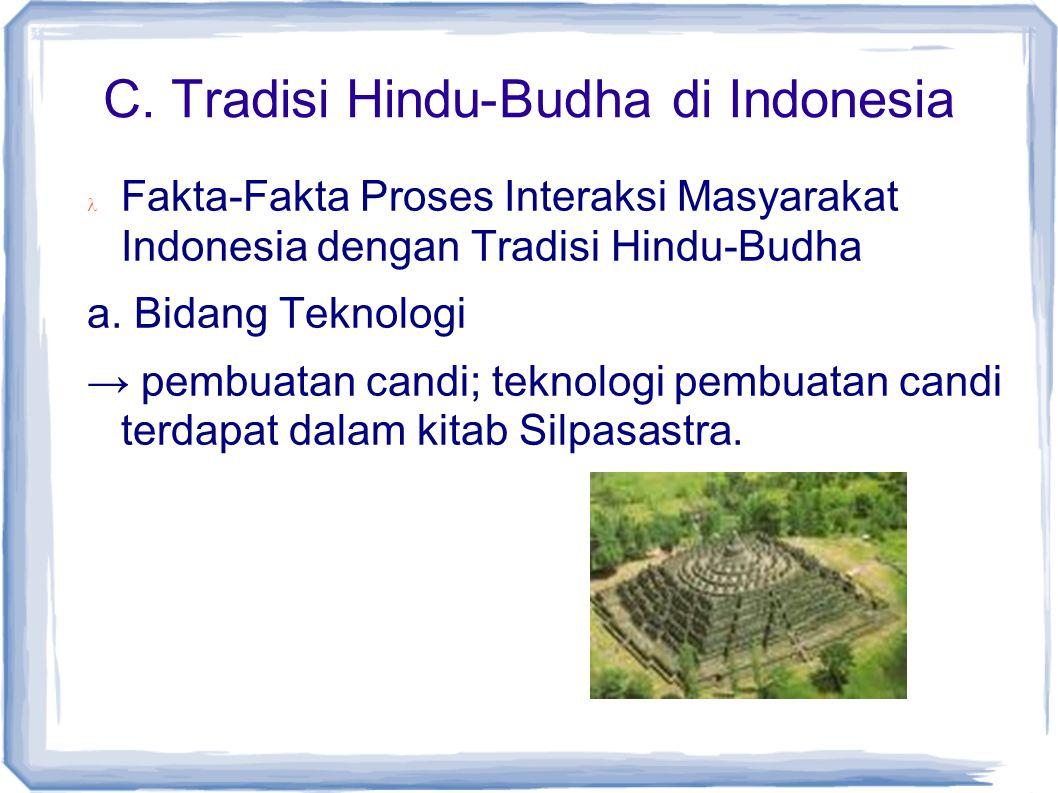 C. Tradisi Hindu-Budha di Indonesia