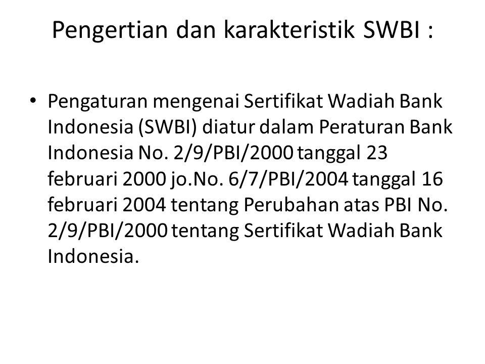 Pengertian dan karakteristik SWBI :