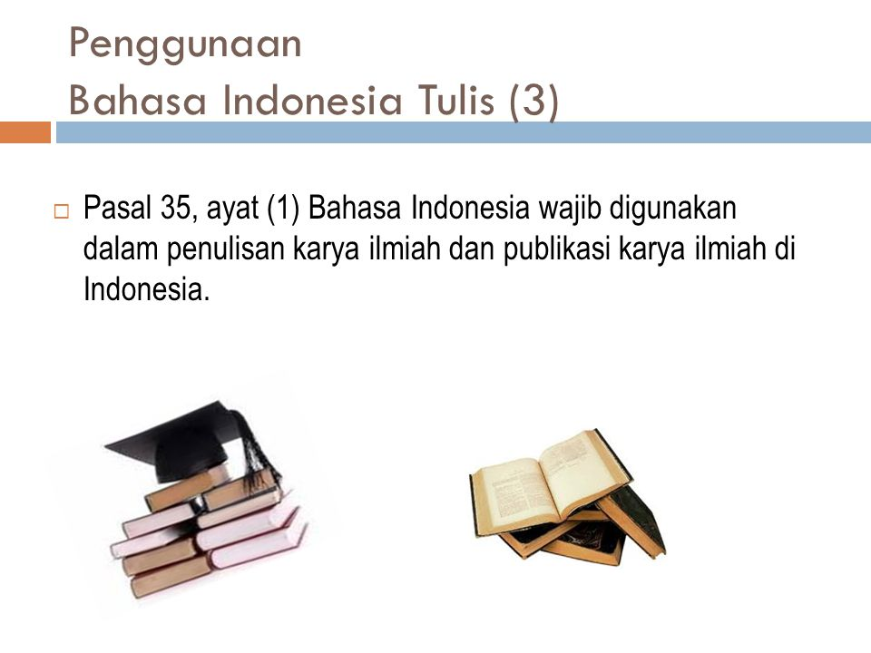 Penggunaan Bahasa Indonesia Tulis (3)
