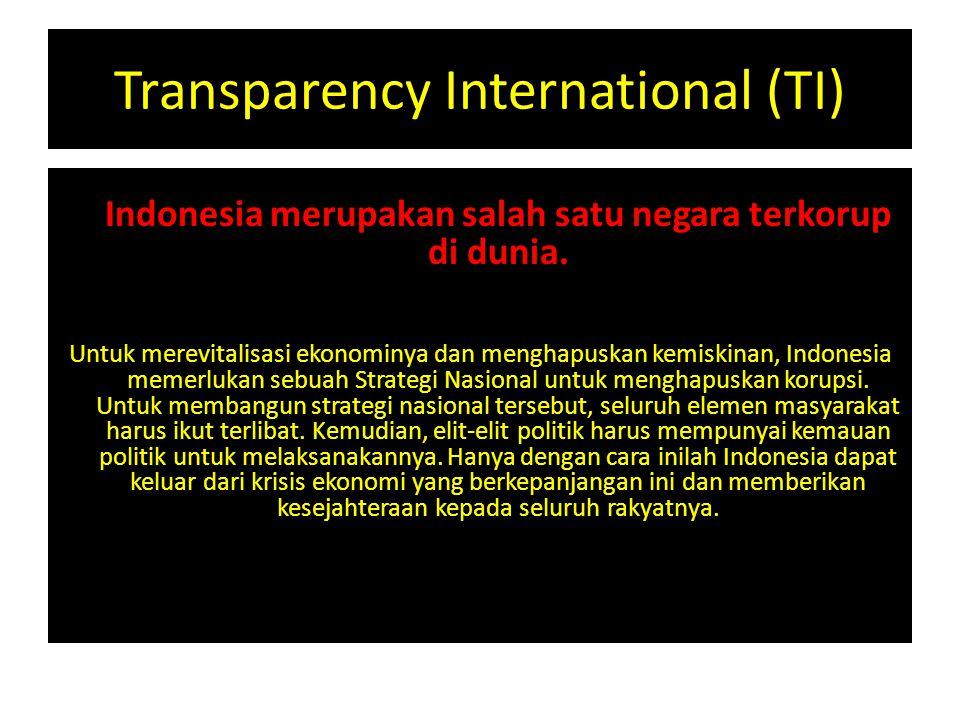 Transparency International (TI)