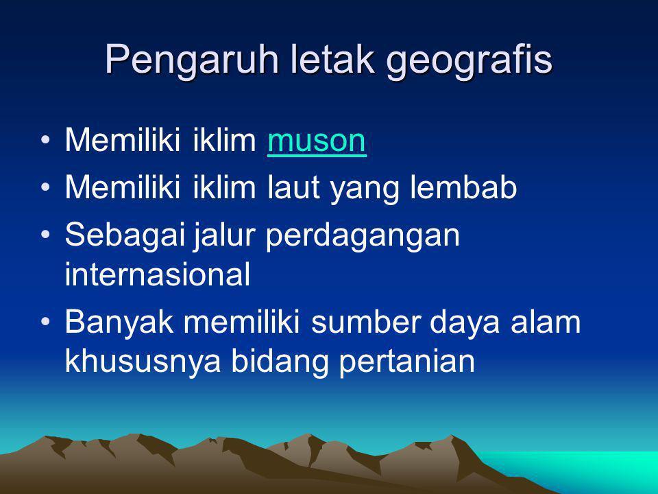 Pengaruh letak geografis