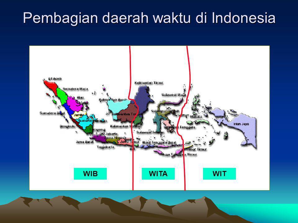 Pembagian daerah waktu di Indonesia