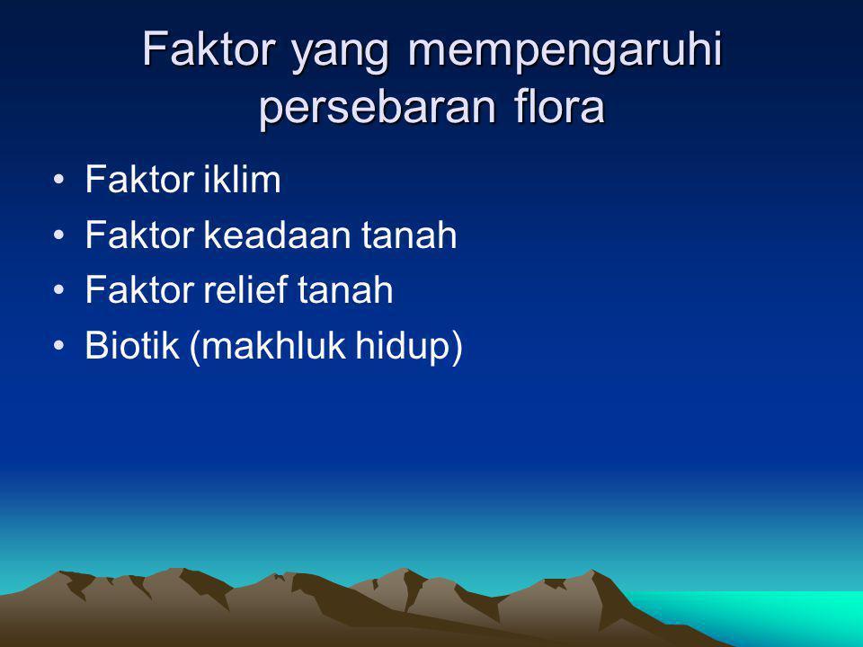 Faktor yang mempengaruhi persebaran flora