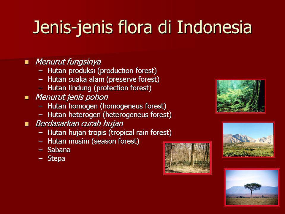 Jenis-jenis flora di Indonesia