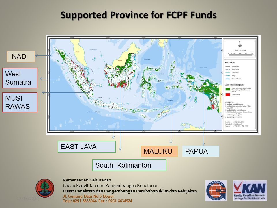 Supported Province for FCPF Funds