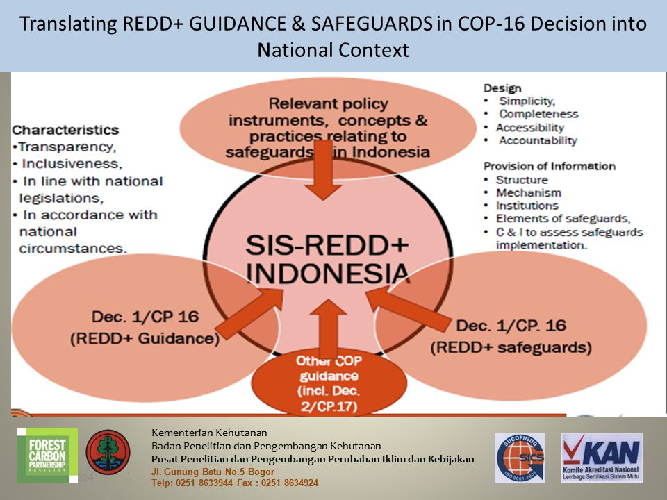 Translating REDD+ GUIDANCE & SAFEGUARDS in COP-16 Decision into National Context