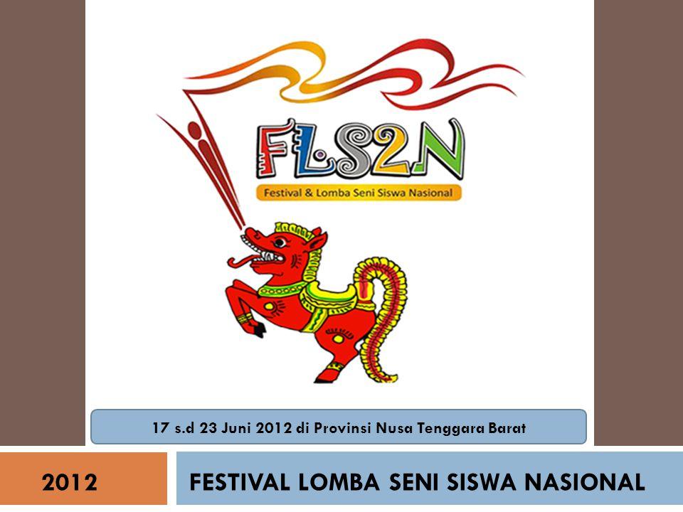 17 s.d 23 Juni 2012 di Provinsi Nusa Tenggara Barat